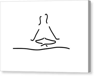 Yoga Joga Meditation Canvas Print by Lineamentum