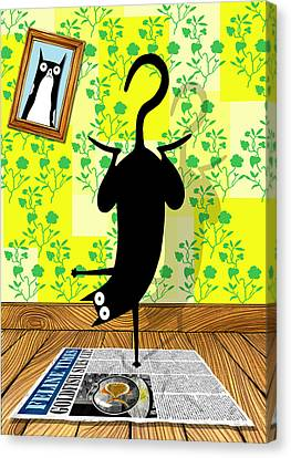 Yoga Mat Canvas Print by Andrew Hitchen
