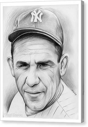Yogi Berra Canvas Print by Greg Joens