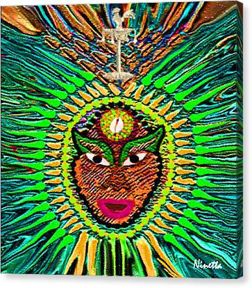 Yoruba Collection  Orula Canvas Print by Andrea N Hernandez