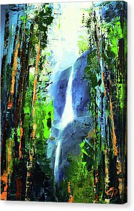 Yosemite Falls Canvas Print by Elise Palmigiani
