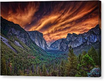 Yosemite Fire Canvas Print by Rick Berk