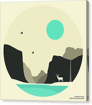 Yosemite National Park Mirror Lake Canvas Print by Jazzberry Blue