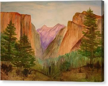 Yosemite Valley Canvas Print by Julie Lueders