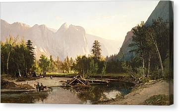 Yosemite Valley Canvas Print by William Keith