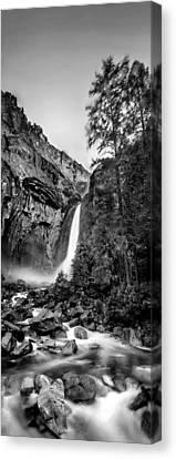 Yosemite Waterfall Bw Canvas Print by Az Jackson