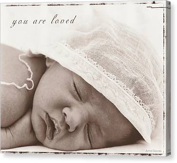 You Are Loved Canvas Print by Anne Geddes