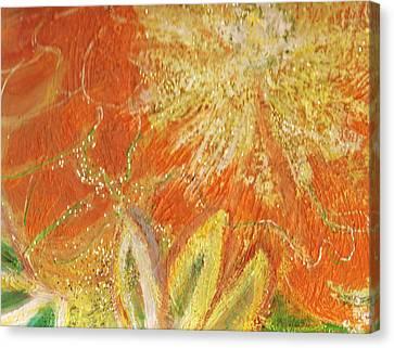 You Are My Sunshine Flower Canvas Print by Anne-Elizabeth Whiteway