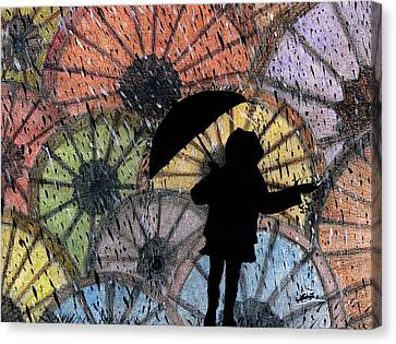 You Can Stand Under My Umbrella Canvas Print by Sowjanya Sreeram