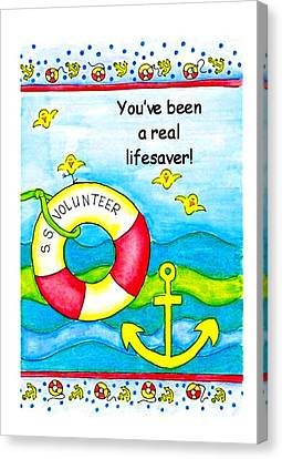 You Have Been A Real Lifesaver Canvas Print by Karon Melillo DeVega