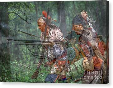You Were There...battle Of Bushy Run Canvas Print by Randy Steele