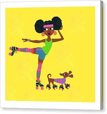 Young African American Woman Canvas Print by Gillham Studios