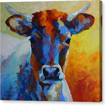 Young Blood - Longhorn Canvas Print by Marion Rose