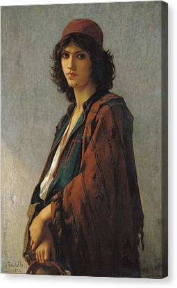 Young Bohemian Serb Canvas Print by Charles Landelle