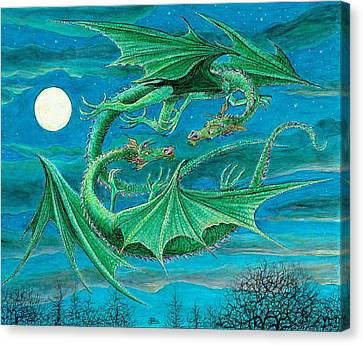Young Dragons Frisk Canvas Print by Charles Cater