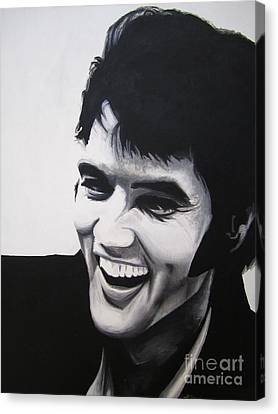 Young Elvis Canvas Print by Ashley Price