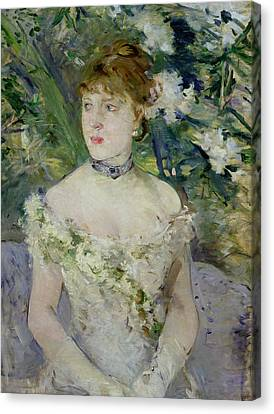 Young Girl In A Ball Gown Canvas Print by Berthe Morisot