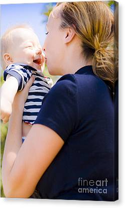 Young Mother Enjoying A Moment With Her Baby Canvas Print by Jorgo Photography - Wall Art Gallery