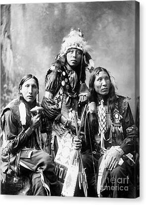 Young Sioux Men, 1899 Canvas Print by Granger