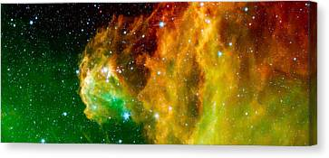 Young Stars Emerge From Orion's Head Canvas Print by Space Art Pictures