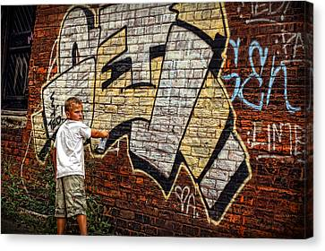 Young Vandal Too Canvas Print by Gordon Dean II