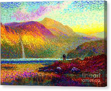 Your Love Colors My World, Modern Impressionism, Romantic Art Canvas Print by Jane Small