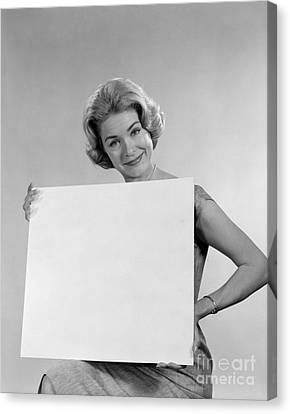 Your Message Here, C.1960s Canvas Print by H. Armstrong Roberts/ClassicStock