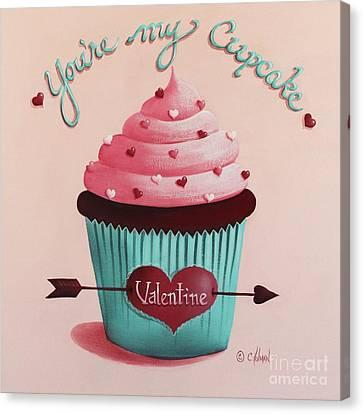 You're My Cupcake Valentine Canvas Print by Catherine Holman