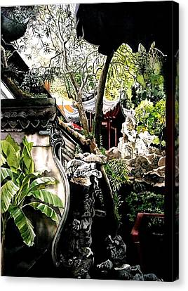 Yu Garden In Shanghai Canvas Print by Alfred Ng