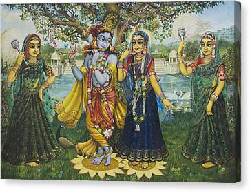 Yugal Kishor. Radha Krishna Canvas Print by Vrindavan Das