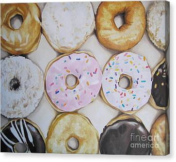 Yummy Donuts Canvas Print by Jindra Noewi