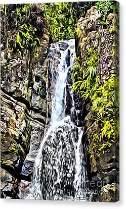Yunque Waterfall Canvas Print by Carey Chen