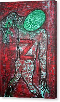 Z 4 Zombie Canvas Print by Laura Barbosa