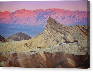 Zabriskie Sunrise Iv Canvas Print by Ricky Barnard