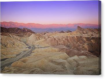 Zabriskie Sunrise Canvas Print by Ricky Barnard