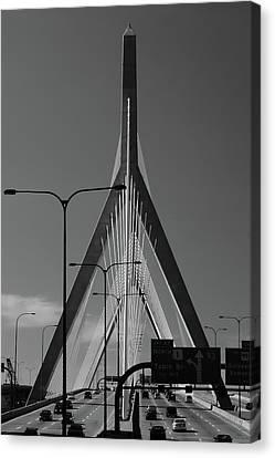 Zakim Bridge 2 - Boston Canvas Print by Joann Vitali