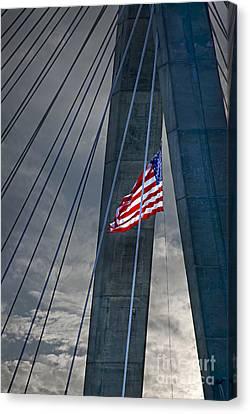 Zakim Bridge Boston Canvas Print by Elena Elisseeva
