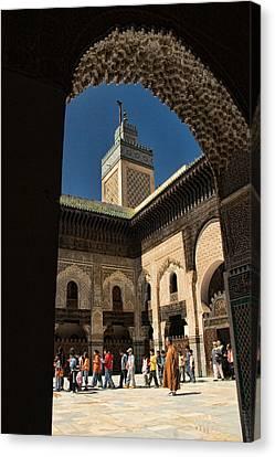 Zaouia El Tijaniya Mosque In Fes Morroco Canvas Print by David Smith