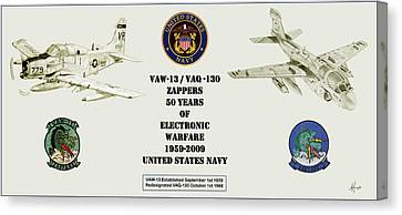 Zappers 50 Years Then And Now Canvas Print by Nicholas Linehan