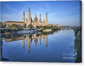 Zaragoza Reflection Canvas Print by Colin and Linda McKie