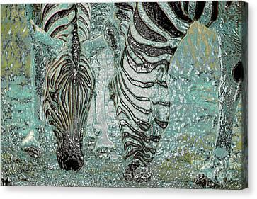 Zebra Dream Canvas Print by Cheryl Rose
