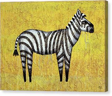 Zebra Canvas Print by Kelly Jade King