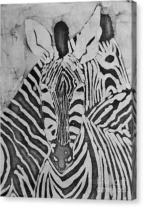 Zebras Canvas Print by Caroline Street