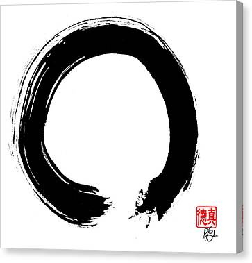 Zen Circle Five Canvas Print by Peter Cutler