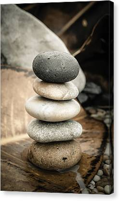 Zen Stones Iv Canvas Print by Marco Oliveira