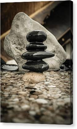 Zen Stones V Canvas Print by Marco Oliveira
