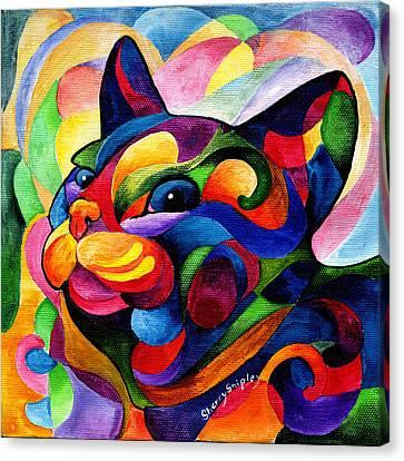 Zen Ziggy Canvas Print by Sherry Shipley