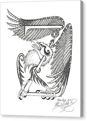 Zeta Eagle Canvas Print by Melinda Dare Benfield