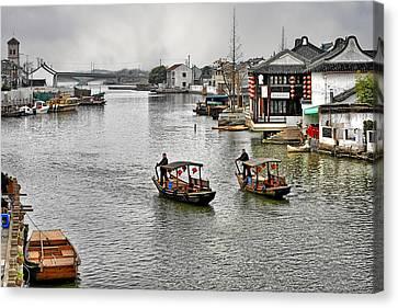 Zhujiajiao - A Glimpse Of Ancient Yangtze Delta Life Canvas Print by Christine Till