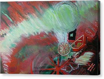 Zig-zag Explosion Canvas Print by Anne-Elizabeth Whiteway